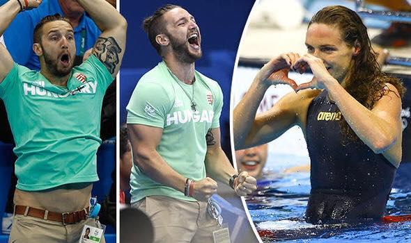"""ذهبية أفضل """"رد فعل"""" في ريو.. لزوج السباحة الهنجارية"""