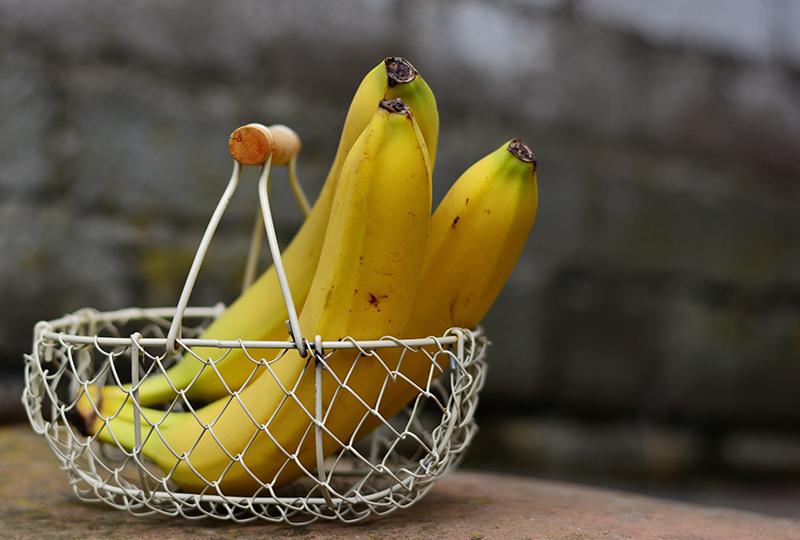 الموز والبوتاسيوم